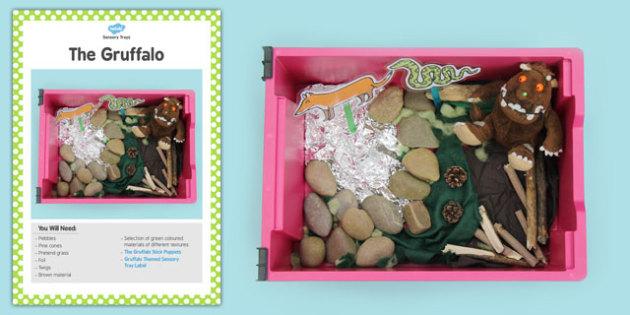 The Gruffalo Sensory Tray Card - gruffalo, sensory tray card
