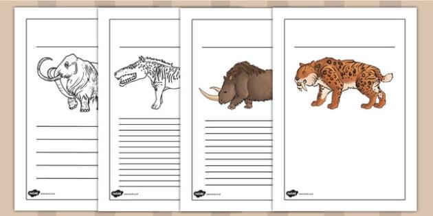 Prehistoric Beasts Writing Frames - history, writing aid, write