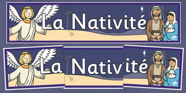 French La Nativité Display Banner - french, la nativite, display banner, display