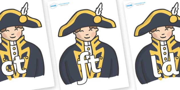 Final Letter Blends on Admirals - Final Letters, final letter, letter blend, letter blends, consonant, consonants, digraph, trigraph, literacy, alphabet, letters, foundation stage literacy