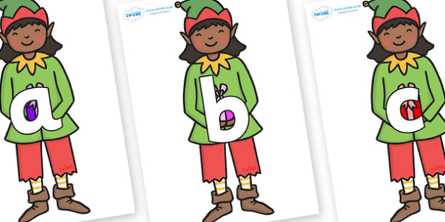 Phoneme Set on Green Elf (Girl) - Phoneme set, phonemes, phoneme, Letters and Sounds, DfES, display, Phase 1, Phase 2, Phase 3, Phase 5, Foundation, Literacy
