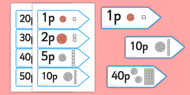 Number Shape Price Labels with Dienes - number shape, price, labels, dienes, number, shape