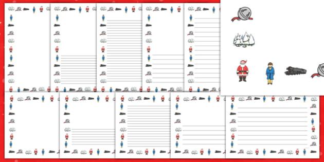 Christmas Train Journey Page Borders - christmas train journey, page borders
