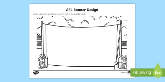 AFL Banner Design Activity Sheet