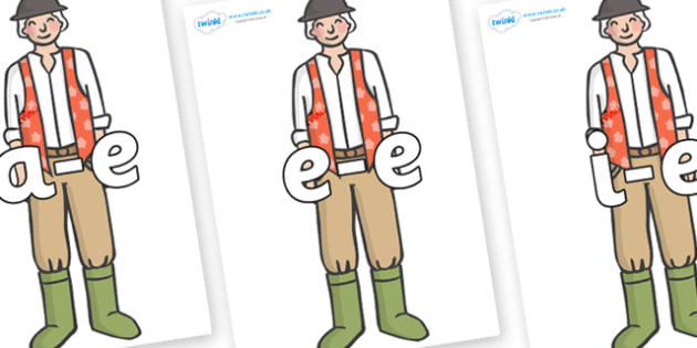 Modifying E Letters on Farmer to Support Teaching on Pig in the Pond - Modifying E, letters, modify, Phase 5, Phase five, alternative spellings for phonemes, DfES letters and Sounds