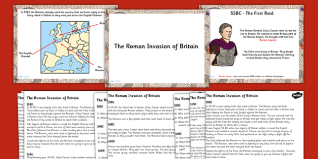 The Roman Invasion of Britain Task Setter Flipchart  - romans