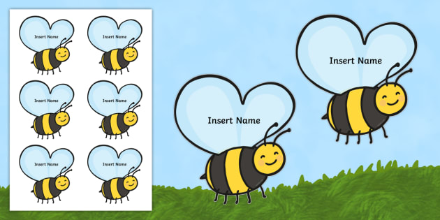 Busy Bee Editable Self Registration - New Zealand Back to School, name labels, drawer labels, job monitors, birthday charts, displays, wal