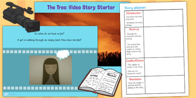 The Tree Video Story Starter Lesson Teaching Pack - stories