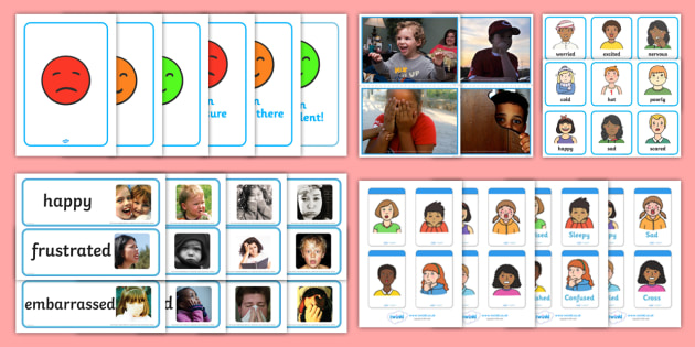 Emotion Pictures Resource Pack - Picture Cards, emotions, elderly, care, picture and photo packs