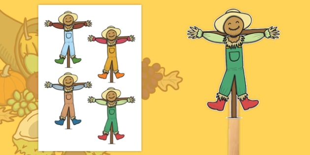 Scarecrow Stick Puppets