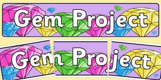 Gem Project Display Banner - gem project, display banner, display