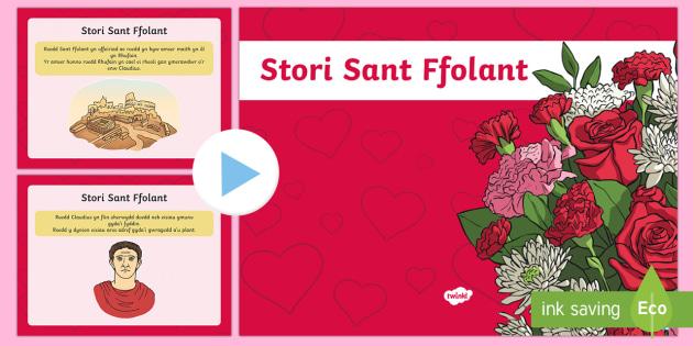 Pŵerbwynt Dydd San Ffolant - Dydd San Ffolant, St Valentine's Day, pwerbwynt, San Ffolant, Valentine's Day Welsh, hanes San Ffo