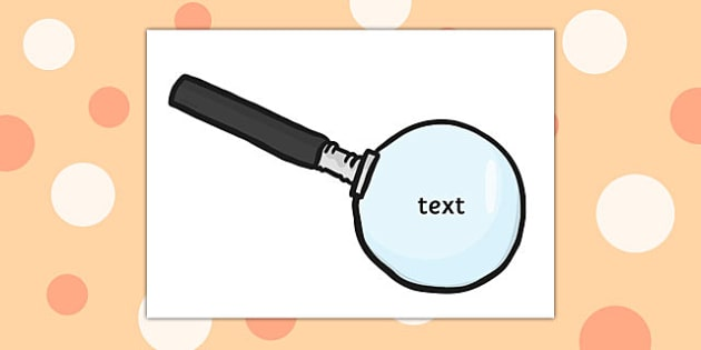 Editable Magnifying Glasses - editable, magnifying, glasses