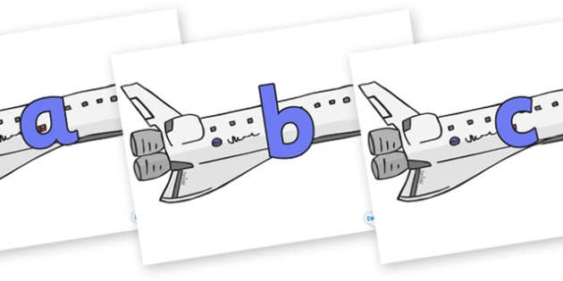 Phoneme Set on Space Shuttles - Phoneme set, phonemes, phoneme, Letters and Sounds, DfES, display, Phase 1, Phase 2, Phase 3, Phase 5, Foundation, Literacy