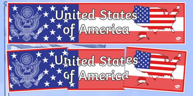 United States Of America Display Banner - United States of America, USA, U.S.A., display, banner, sign, posters, America, North America, American