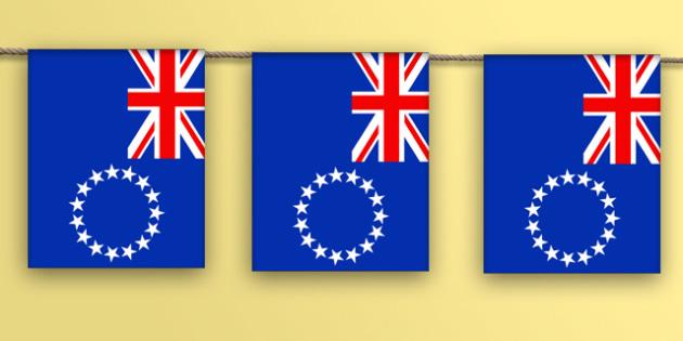 Cook Islands Flag Display Bunting