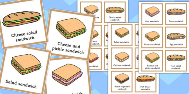 Final 'Ch' Sound In Multisyllabic Phrases Sandwich Cut Outs - cut