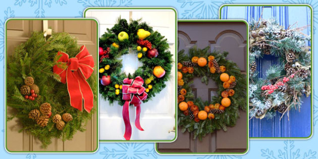 Christmas Wreath Display Photo Pack - christmas, wreath, display