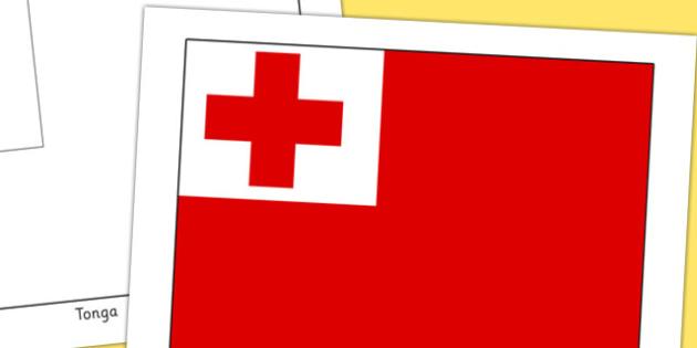 Tonga Flag Display Poster - countries, geography, display, tonga