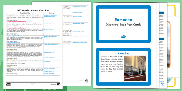 EYFS Ramadan Discovery Sack Plan and Resource Pack - ramadan, discovery sack, sack, discovery