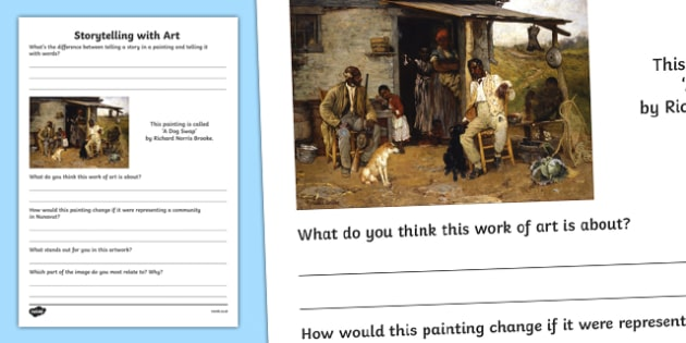 Storytelling with Art Activity Sheet, worksheet