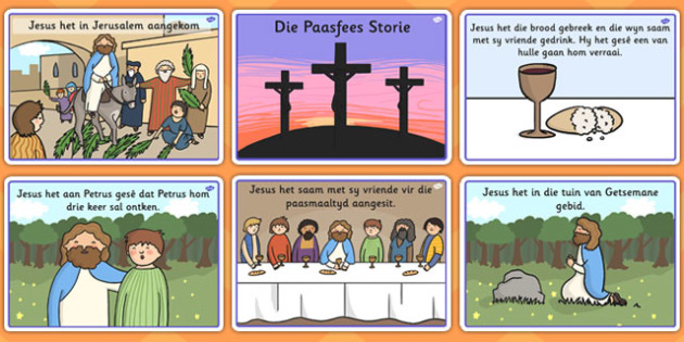Afrikaans The Easter Story Sequencing - afrikaans, easter, story