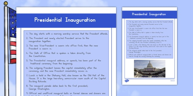Presidential Inauguration Fact File