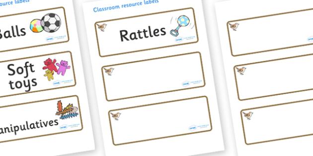 Wren Themed Editable Additional Resource Labels - Themed Label template, Resource Label, Name Labels, Editable Labels, Drawer Labels, KS1 Labels, Foundation Labels, Foundation Stage Labels, Teaching Labels, Resource Labels, Tray Labels, Printable lab