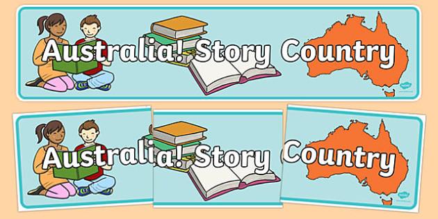 Australian Book Week Display Banner Australia Story Country - australia, book week, display banner, display, banner