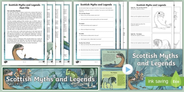 Scottish Myths and Legends Activity Pack=