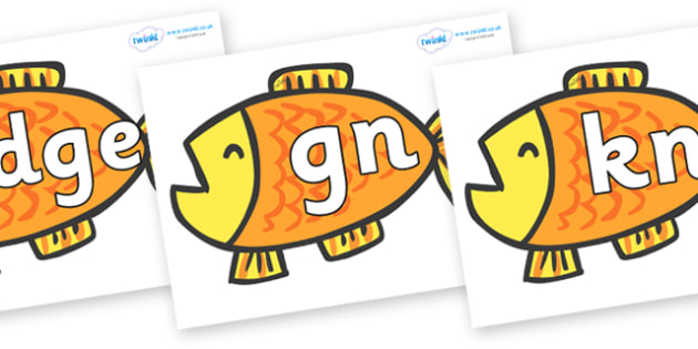 Silent Letters on Goldfish to Support Teaching on Brown Bear, Brown Bear - Silent Letters, silent letter, letter blend, consonant, consonants, digraph, trigraph, A-Z letters, literacy, alphabet, letters, alternative sounds