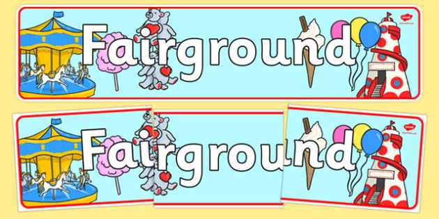 The Fairground Role Play Banner - fairground, role play, role play fairground, display banner, fairground display banner, fairground banner