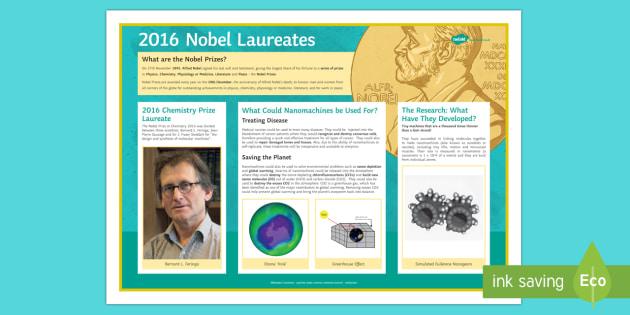 The 2016 Nobel Chemistry Prize Display Poster