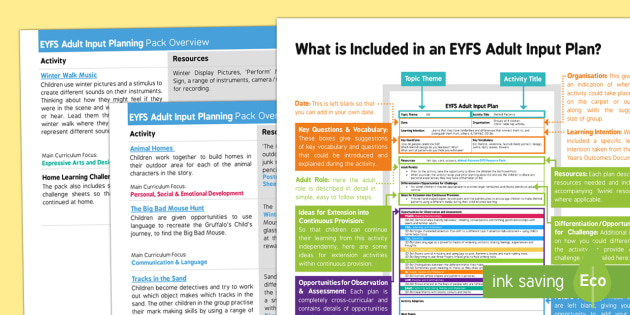 EYFS Adult Input Planning and Resource Pack Overview - The Gruffalo's Child, Julia Donaldson, winter, snow, overviews, plans, adult led, lesson plans, the