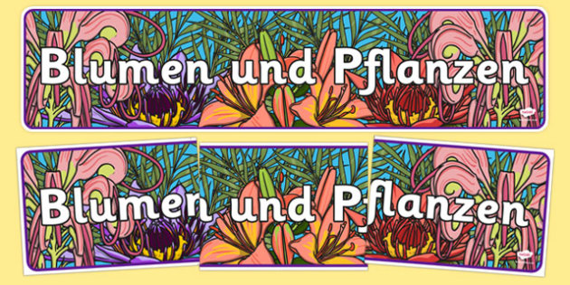 Blumen und Pflanzen - german, plants and flowers, IPC display banner, IPC, plants and flowers display banner, IPC display