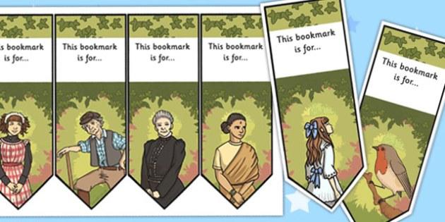 The Secret Garden Bookmarks - bookmarks, secret, garden, read