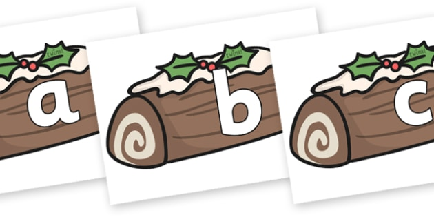Phoneme Set on Christmas Logs - Phoneme set, phonemes, phoneme, Letters and Sounds, DfES, display, Phase 1, Phase 2, Phase 3, Phase 5, Foundation, Literacy