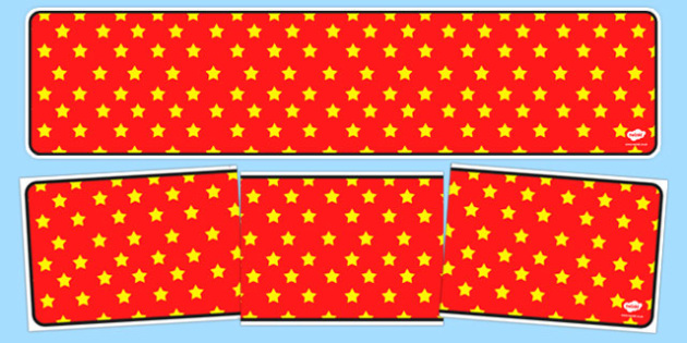 Red with Yellow Stars Editable Display Banner - red, yellow, display, banner, display banner, display header, themed banner, editable banner, editable