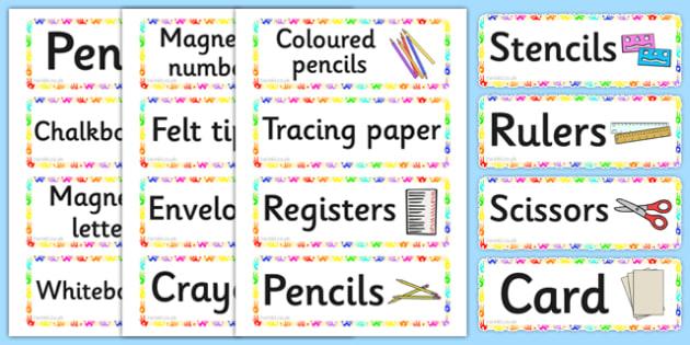 Handprints Themed Writing Area Resource Labels - handprints