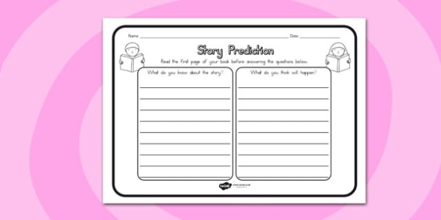 Story Prediction Comprehension Worksheet - australia, story