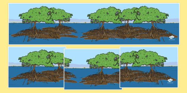 Australian Mangrove Habitat Small World Background - australia, Science, Year 1, Habitats, Australian Curriculum, Mangrove, Living, Living Adventure, Environment, Living Things, Animals, Small World
