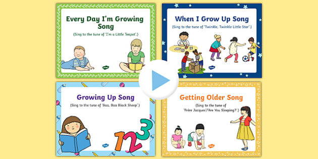 Growing Up Songs and Rhymes PowerPoints Pack