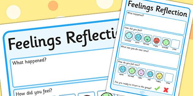 Feelings Reflection - Feelings, Reflection, Think, Emotions, Feel