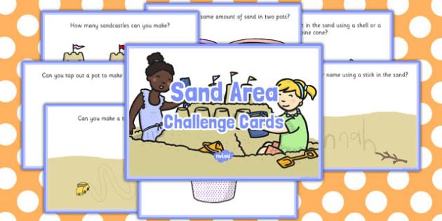 Sand Area Challenge Cards - challenge cards, sand area, sand