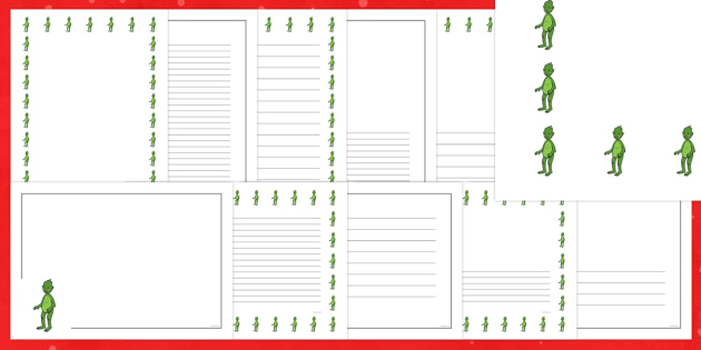 The Christmas Imp Page Border Pack - The Christmas Imp, the grinch, the grinch who stole christmas, christmas, green, imp