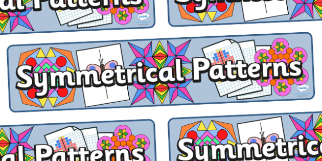 Symmetrical Patterns Display Banner - symmetrical patterns display banner, symmetrical patterns, display, banner, sign, poster, pattern, patterns