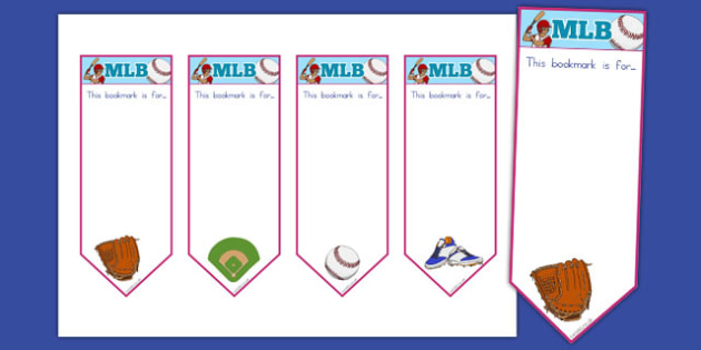 Baseball Themed Bookmarks - usa, america, baseball, mlb, major league baseball, bookmarks