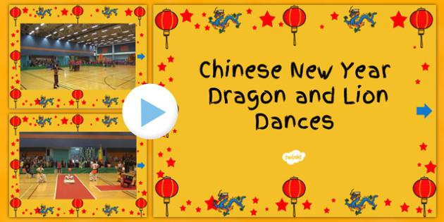 Australia Chinese New Year PowerPoint Videos Dragon and Lion Dance - lion dance video powerpoint, dragon dance video powerpoint