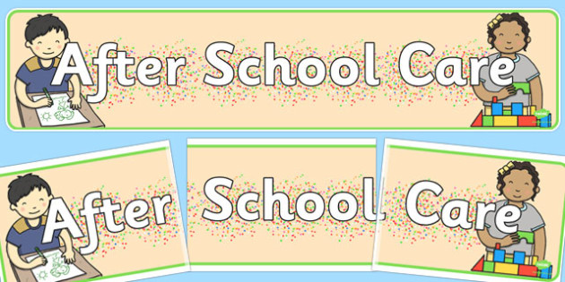 After School Care Display Banner - display banner, after school