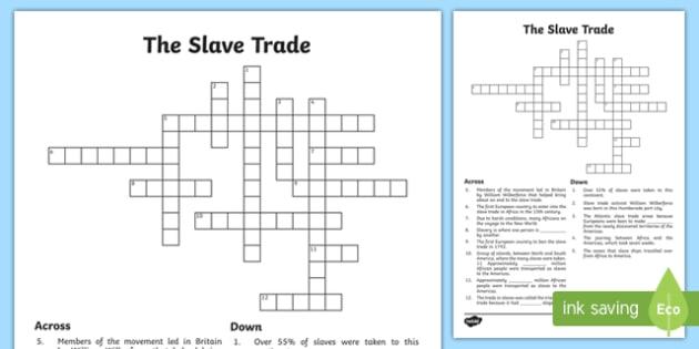 Slave Trade Crossword